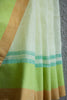Lemon Yellow Linen Saree