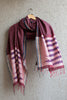 Maroon Striped Irkal Dupatta