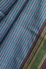 Ganga Jamuna Blue and Grey Stripes Ilkal Saree