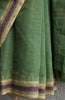 Khadi Green Saree