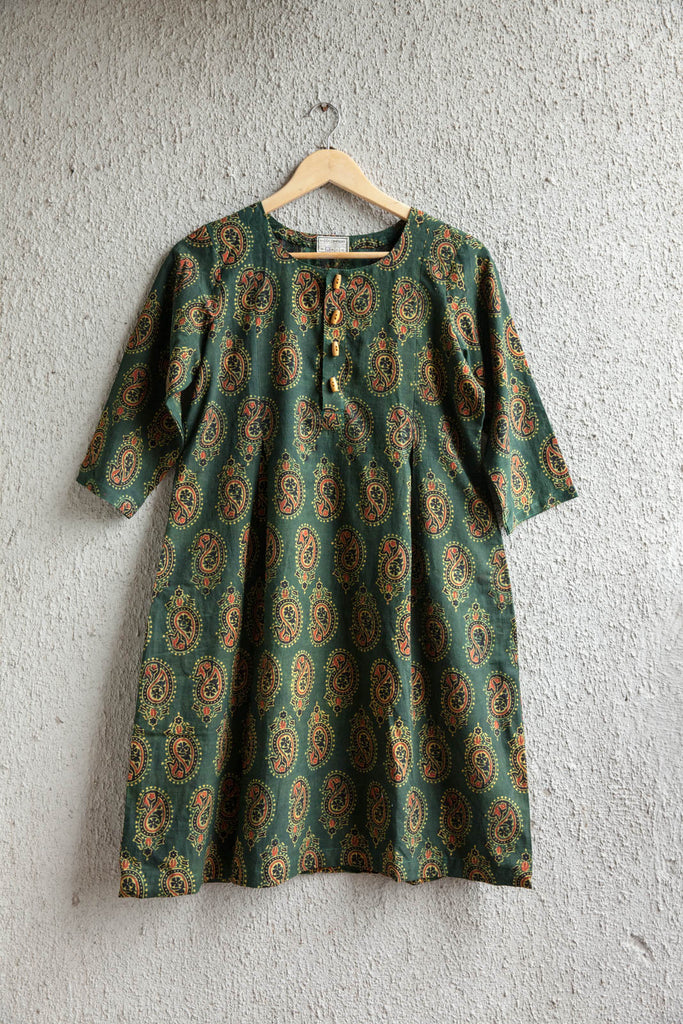 Short Dress with Traditional Print