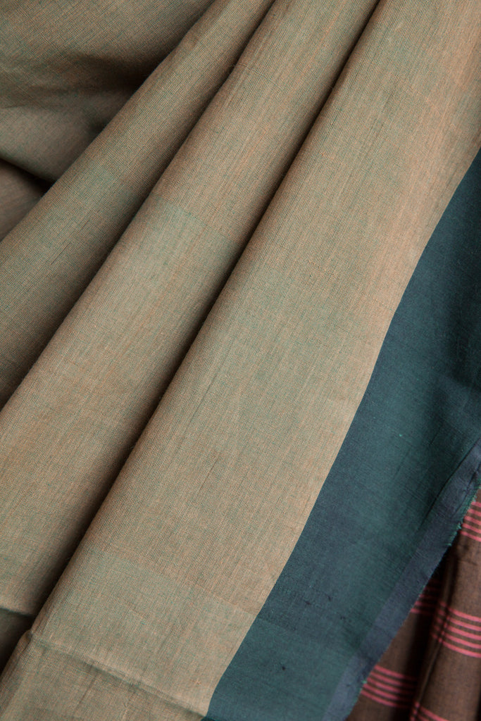 Kerala Cotton Green Saree