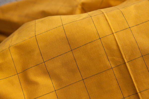 Ochre Checkered Fabric (per meter)