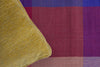 Multicolor Checkered Single Bedsheet - Purple