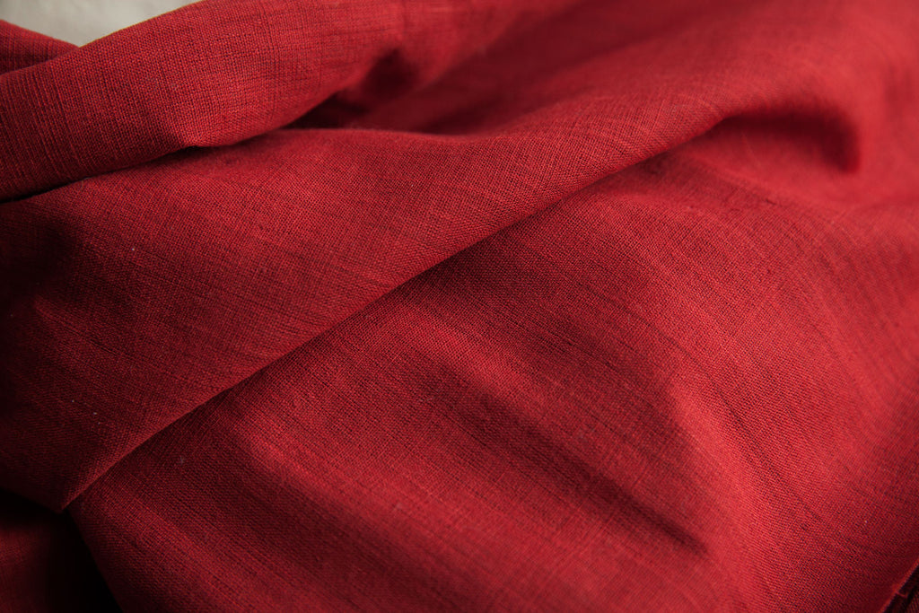 Deep Red Cotton Fabric (per meter)
