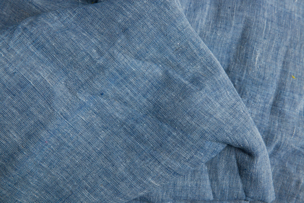 Blue Color Kala Cotton Fabric (per meter)