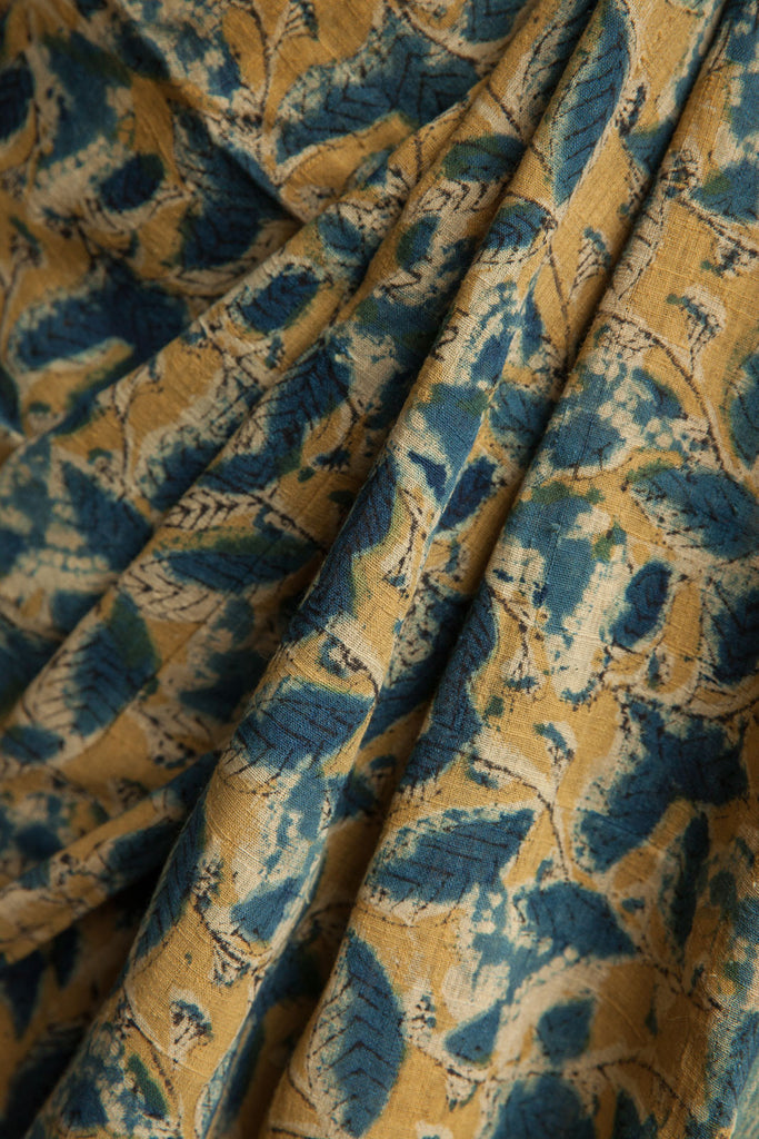 Blue Butterflies and Leaves Saree with matching Border