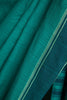 Plain Aqua Green Missing Checks Saree