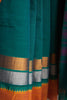 Dark Aqua Green Kuppadam Saree