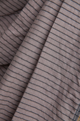Grey Striped Ilkal Saree
