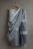 Shades of Grey Linen Saree