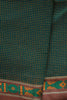 Emerald Green Checkered Saree with Fish Border