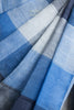 Shades of Blue Checkered Linen Saree
