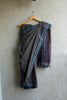 Grey Green Striped Irkal Saree