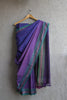 Pink Purple Striped Irkal Saree