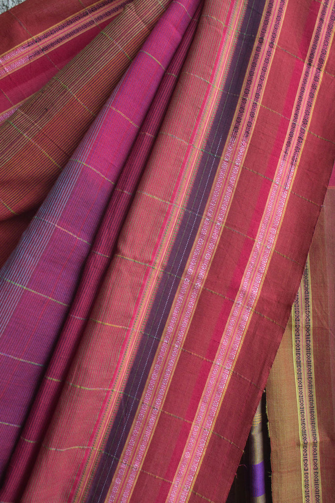 Multicolored Striped Irkal Saree