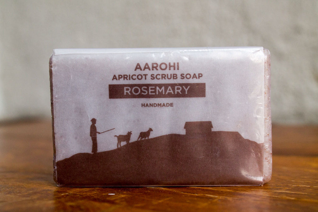 Apricot Scrub Soap - Rosemary Flavour