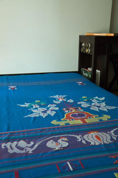 Blue Single Bed Cover