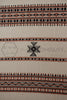 Beige and Black Kutchhi Bed Cover