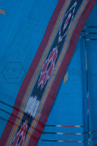 Blue Tie Dye Cotton Saree