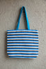 Blue and White Handbag