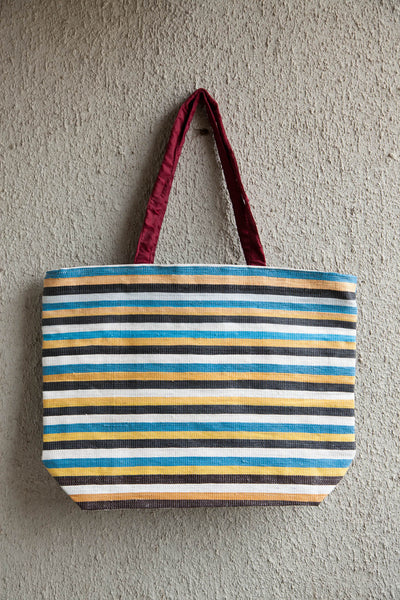 3R Blue Yellow Shopping bag