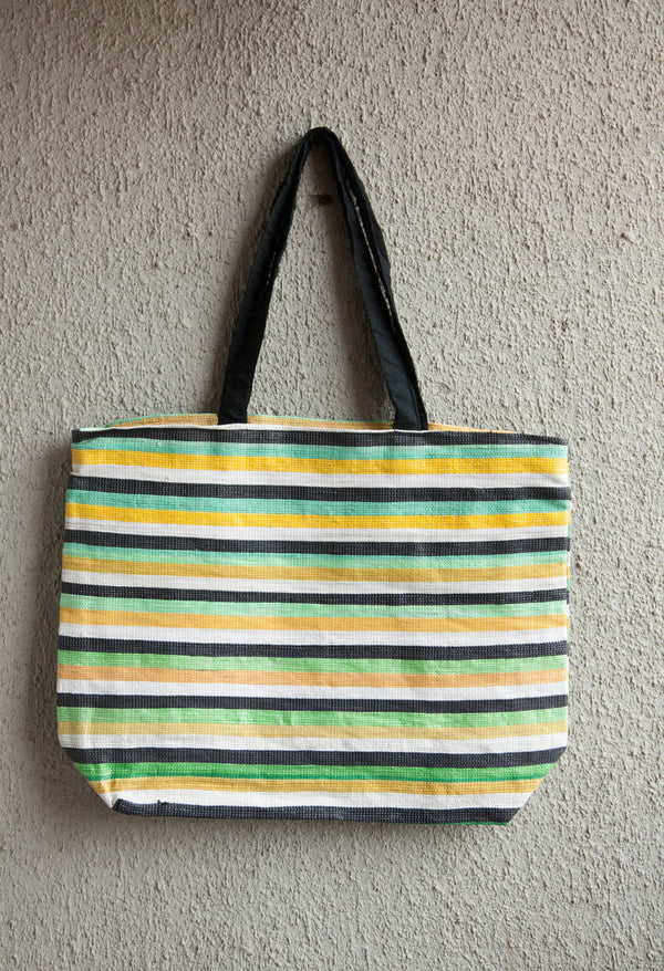 3R Yellow Green Shopping Bag