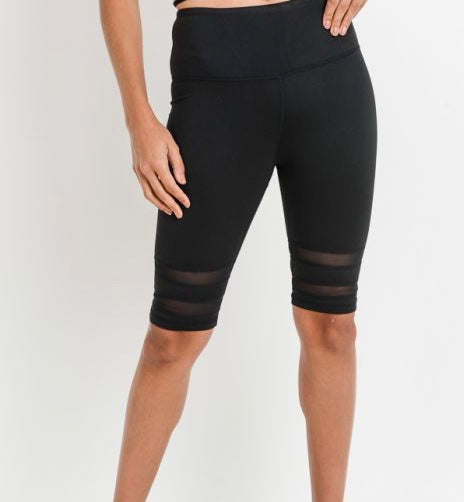 """Mesh with Me ""Biker Shorts"