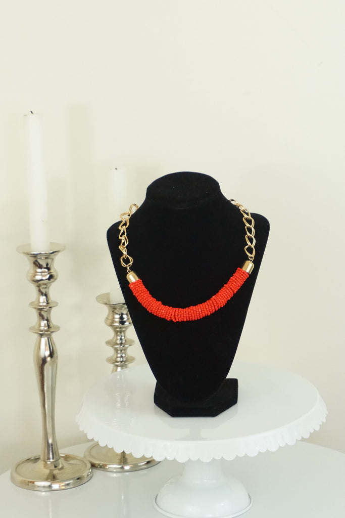 Chunky Beaded Necklace - Ukie Boutique
