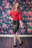 Faux Leather Ukie Skirt - Ukie Boutique