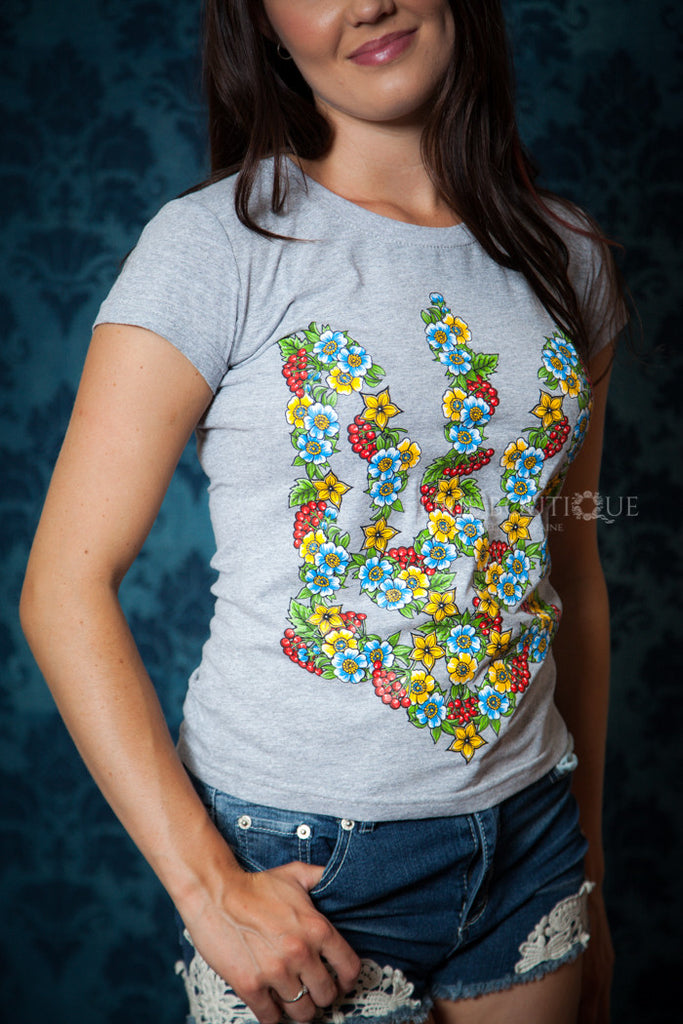 Floral Tryzub T-shirt