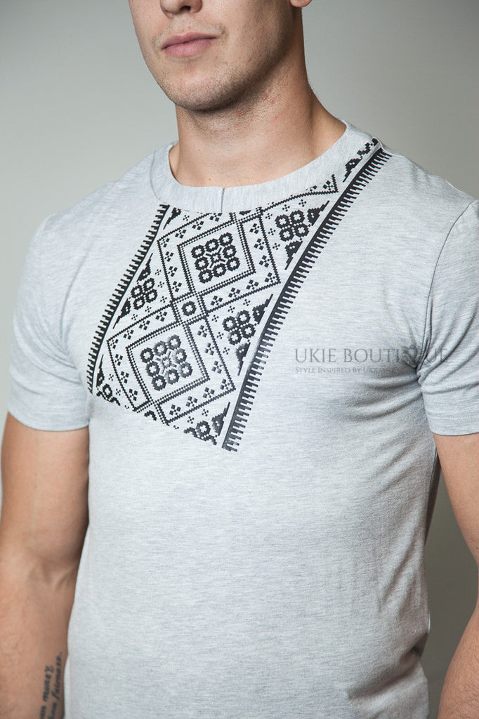 Tilted Ukie Embroidered fitted T-shirt
