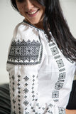 White Vyshyvanka with black embroidery