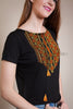 Orange Hutzul style embroidery T-shirt - Ukie Boutique