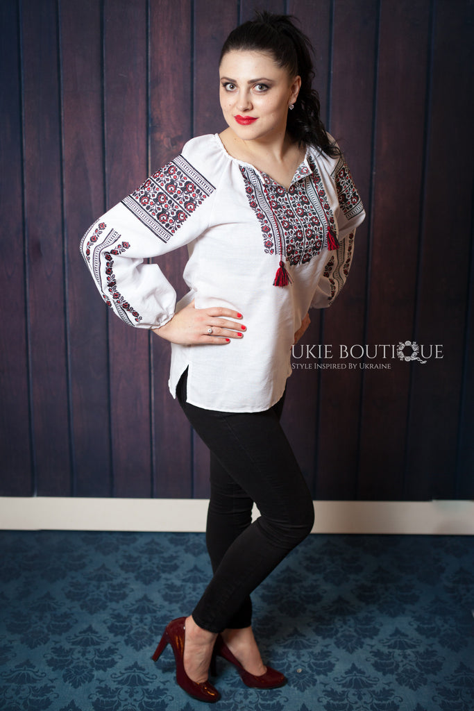 Borshchivskiy - Black & Red Embroidery - Ukie Boutique