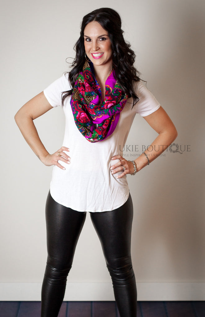 Hustka Infinity Scarf for Spring - Ukie Boutique