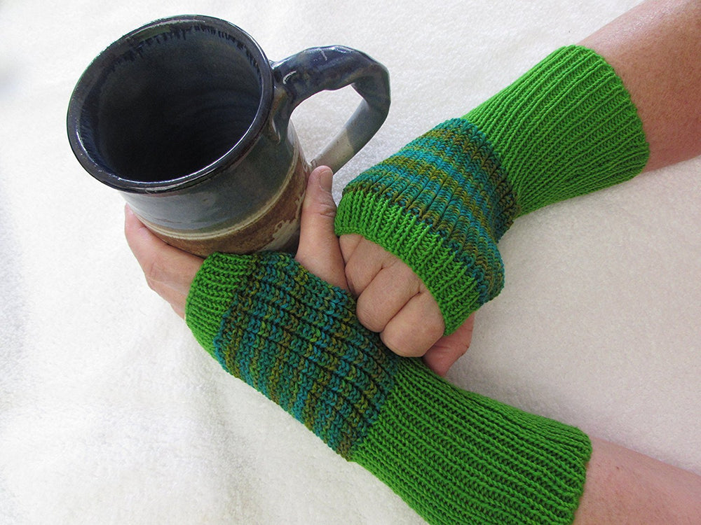 Knit Fingerless Gloves, One of a Kind