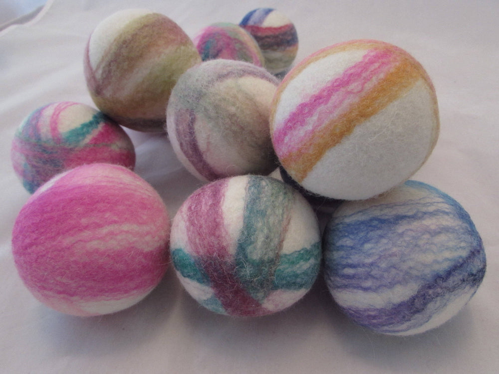 Felted Wool Dryer Balls-Eco Friendly-Gift under $20-Laundry Balls