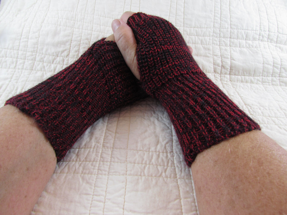 Knit Fingerless Glove, One of a Kind Pair