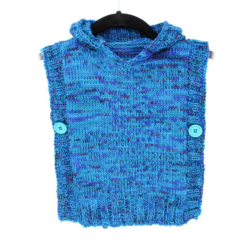 Child's Easy Knit Poncho, Instructions for 4 Sizes, PDF