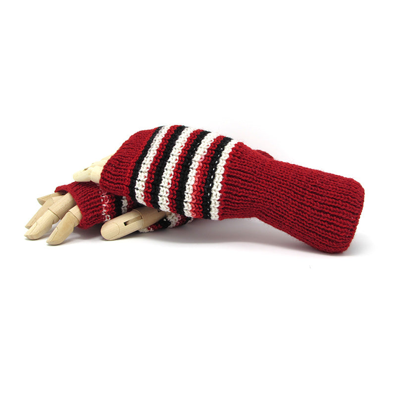 Knit Fingerless Glove, Team Colors