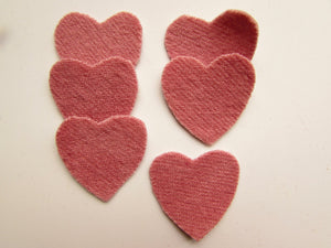 Felted Wool Pink Hearts