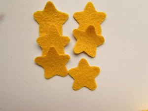 Felted Wool Yellow Stars