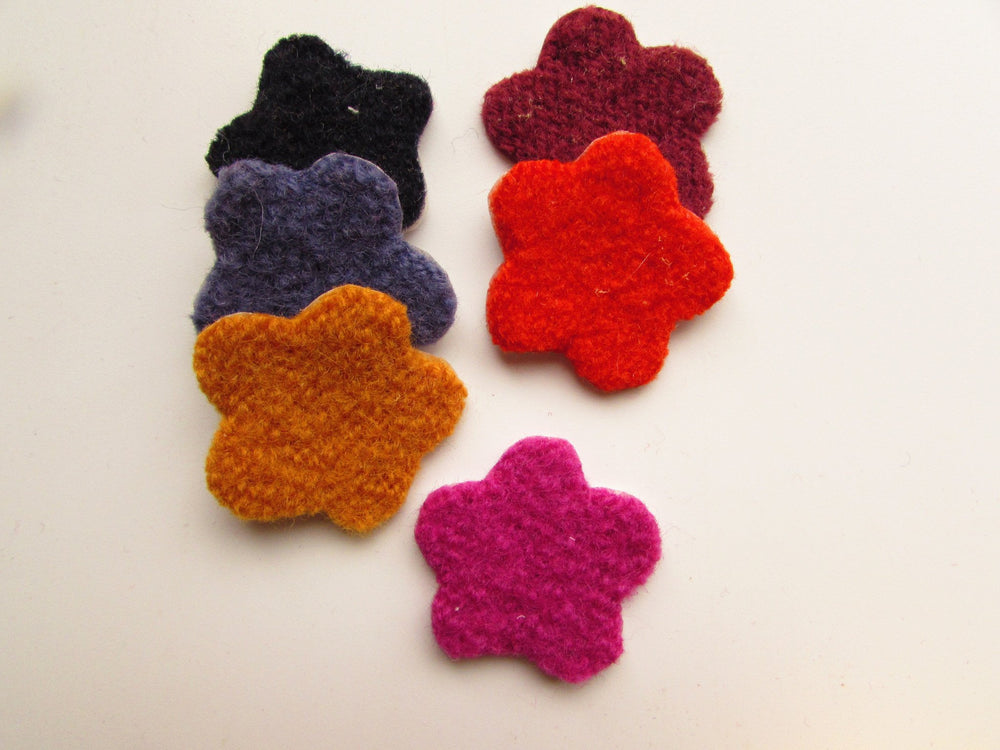 Felted Wool Flowers, Assorted Colors