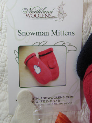 Winter Warm Felted Wool Mitten Kit, Quick and Easy