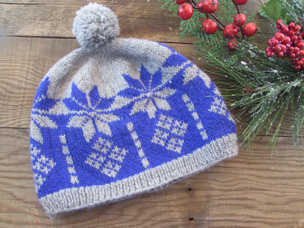 Snowstorm Adult Hat Knitting Digital Pattern-Easy Knitting Pattern