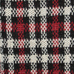 Traditional Plaid Wool and Alpaca Scarf