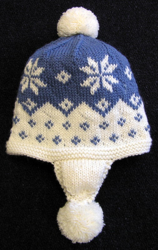 Cascading Snowflake Easy Knitting Pattern-Women's Hat Pattern