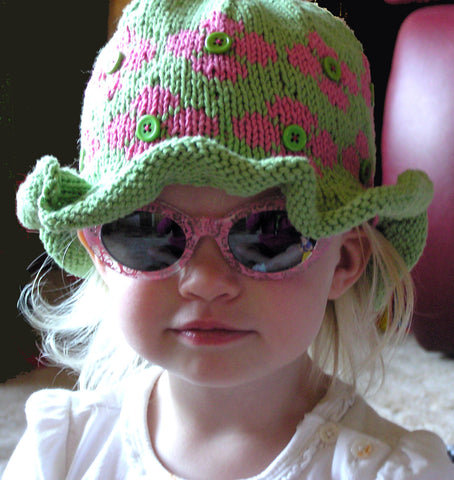 Get Ready for Summer with this  Easy Knitting Kit for Child's Ruffled Hat