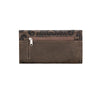 American West Baroque Ladies' Tri-Fold Wallet Back in Charcoal Brown - Lufli Boutique